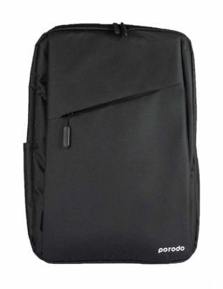 PORODO LIFESTYLE NYLON FABRIC COMPUTER BACKPACK 15.6' (USB CHARGING 2A ) - BLACK