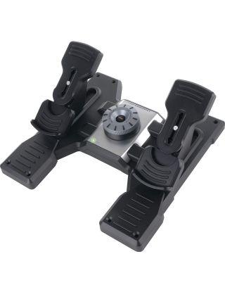 Logitech Flight Rudder Pedals - Professional Simulation Rudder Pedals with Toe Brake