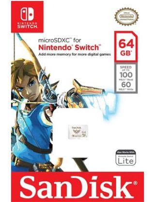 SanDisk 64GB microSDXC UHS-I card for Nintendo Switch