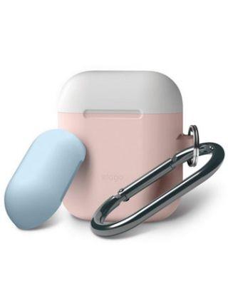 Elago AirPods Duo Hang Case - Pink, Top - White, Pastel Blue