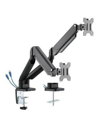 "Twisted Minds Premium Counterbalance Dual Monitor Arm With 3.0 USB Port (LDT26-C024U) 17-32"""