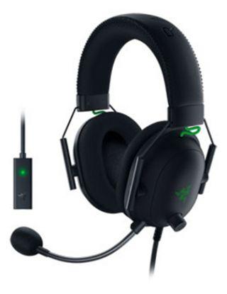 RAZER BLACKSHRK V2 + USB SOUND CARD MULI-PLTFORM WIRED HEADSET FOR ESPORTS - BLACK