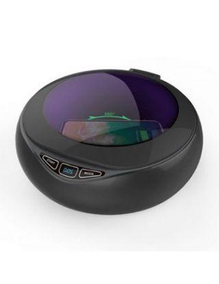 POWEROLOGY UNIVERSAL UV SANITISER BOX WITH 15W WIRELESS CHARGING - BLACK