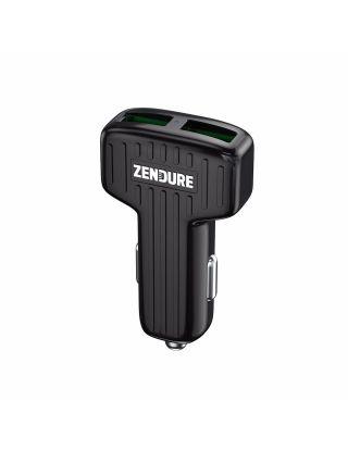 ZENDURE A-SERIES DUAL PORTS CAR CHARGER 30W-QC3.0-BLACK