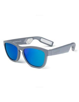 ZUNGLE V2 Viper: Bluetooth Audio Sunglasses (Matte Grey Frames)