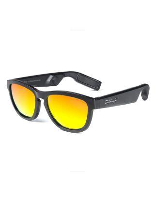 ZUNGLE V2 Viper: Bluetooth Audio Sunglasses (Matte Black Frames)