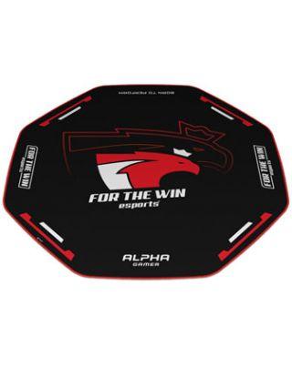 Alpha Gamer Octan Gaming Chair Floor Mat 120cm - Red