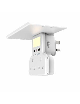 Porodo Multi-Function Socket and Night Light 13A 12W - White