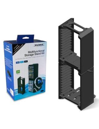 PS4 Dobe Multifunctional Storage Stand Kit - 24 CDS