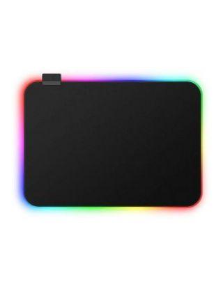 Porodo RGB Gaming Mousepad M ( 36 X 26 X 0.3 CM ) - Black