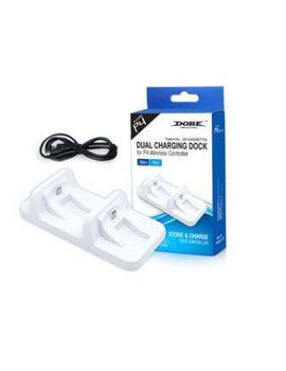 Dobe PS4 Dual Charging Dock - White