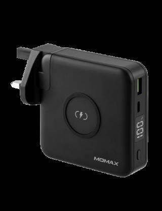 Momax Q.Power Plug Wireless Portable PD Charger 10,000mAh - Black