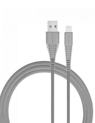 MOMAX MFI Lightning Nylon USB Data Sync Charging Cable for Apple iPhone 6 7 8 X -GRAY