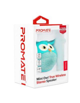 Promate Hedwig Mini Owl True Wireless Stereo Speaker - Blue