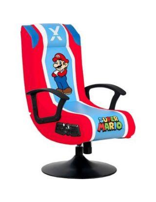 X-Rocker Super Mario Pedestal Folding Chair with 2.1 Audio Built-In Gaming Chair