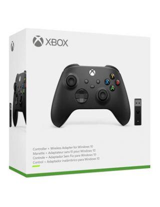 Xbox Wireless Controller + Wireless Adapter for Windows 10 - Black