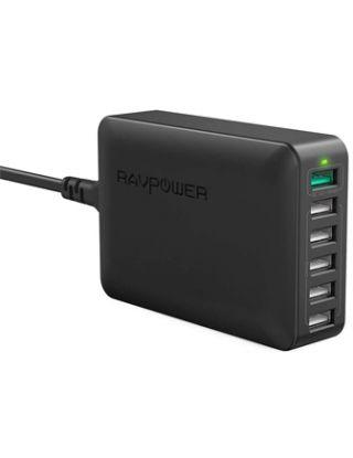 RAVPower 60W 6-Port QC 3.0 Fast Charger Desktop Charging Station