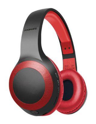 Promate Laboca Deep Bass Over-Ear Wireless Headphones - Red