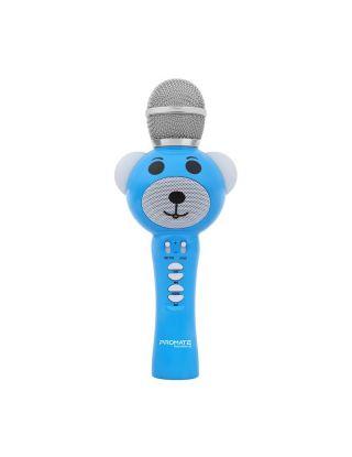 Promate RockStar-2 Wireless Karaoke Microphone for Kids with Hi-Definition Speaker - Blue