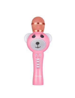 Promate RockStar-2 Wireless Karaoke Microphone for Kids with Hi-Definition Speaker - Pink