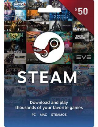 Steam Wallet Gaming Card- $50 (US)-card