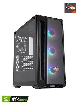 Coolermaster Fan Masterbox Mb520 ARGB AMD Ryzen Mid Tower Gaming PC
