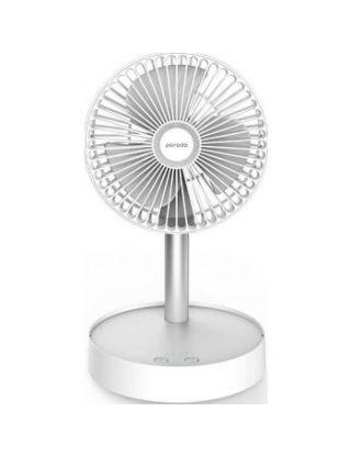 Porodo Lifestyle Portable Folding Fan 7200mAh with Remote - White