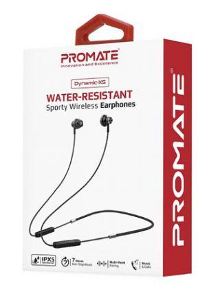 Promate Dynamic-X5 Water-Resistant Sporty Wireless Earphones - Black