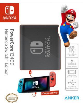 Anker PowerCore 13400 Nintendo Switch Edition Black