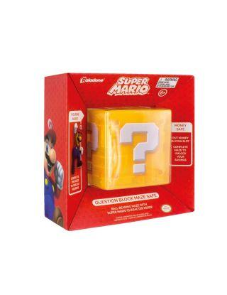 Paladone  Super Question Block Maze Safe with 3D Mario Figurine