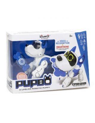 SILVERLIT ROBOT PUPPY PUPBO BLUE AND WHITE
