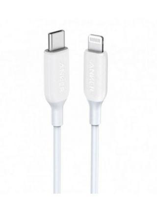 ANKER POWERLINE III USB-C TO LIGHTING 0.9 3FT WHITE