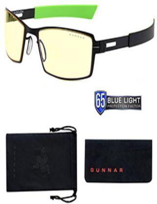 Gunnar Gaming Glasses Razer Edition Moba Onyx Amber