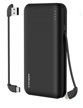 MOMAX IPOWER MINIMAL 5 POWER BANK - 10000MAH - BLACK